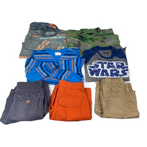 Boys Shirts and Shorts 7 Pieces Size 10-12